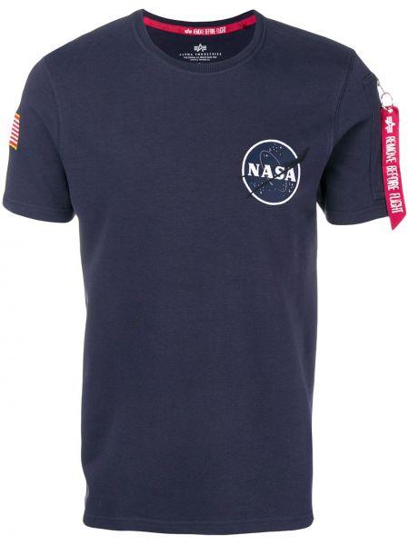 Koszula krótkie z krótkim rękawem prosto z łatami Alpha Industries