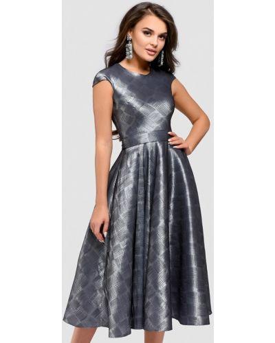 Коктейльное платье серебряный 1001dress