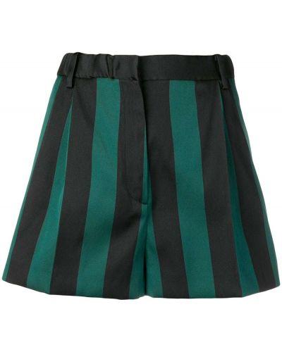 Шелковые шорты в полоску с карманами N°21