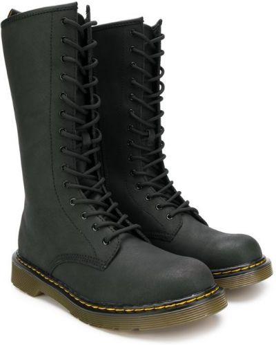 Ботинки черные на шнуровке Dr. Martens Kids
