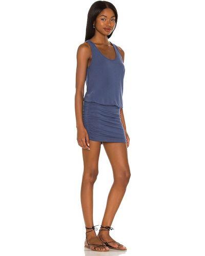 Трикотажное платье мини с оборками Bobi