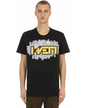 Czarny t-shirt bawełniany Haervaerk