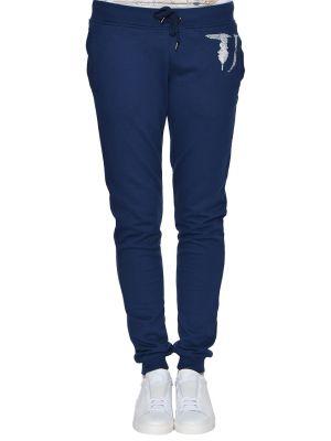 Спортивные брюки весенний синие Trussardi Jeans
