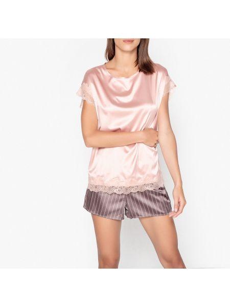 Пижама с шортами в полоску пижамный La Redoute Collections