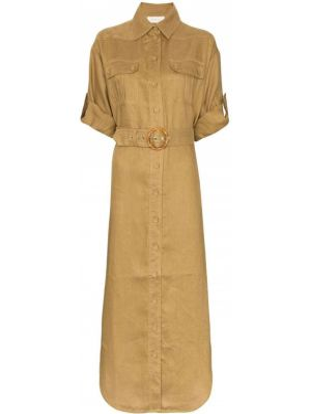 Платье мини миди на пуговицах Zimmermann