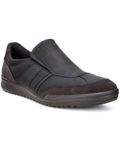 Кожаные полуботинки без шнуровки замшевые Ecco