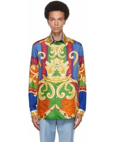 Koszula z jedwabiu Versace