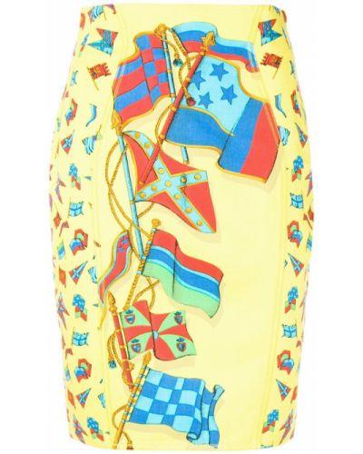 Юбка мини с завышенной талией винтажная Versace Vintage