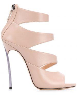 Туфли на каблуке на высоком каблуке с открытым носком Casadei