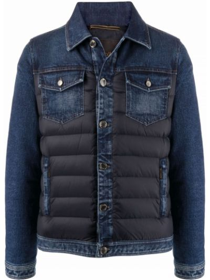 Хлопковая джинсовая куртка - синяя Moorer