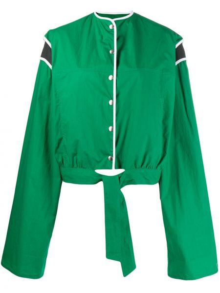 Зеленый пиджак круглый с длинными рукавами Plan C