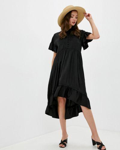 Черное прямое платье Love Republic