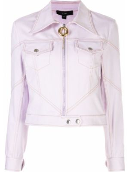 Розовая куртка на молнии с воротником Ellery