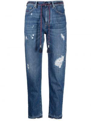 Хлопковые синие прямые джинсы Jacob Cohen
