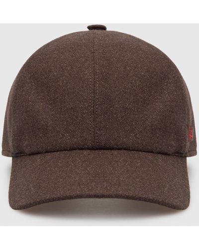 Шерстяная кепка - коричневая Isaia