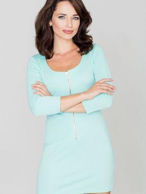 Zielona sukienka materiałowa Katrus