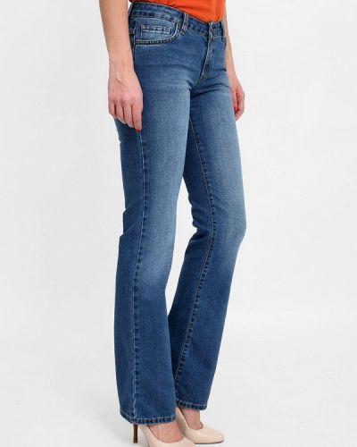 Широкие джинсы расклешенные синие F5