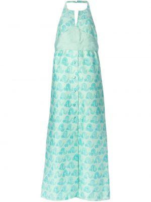 Вечернее платье с открытой спиной с бантом винтажное на пуговицах Courrèges Pre-owned