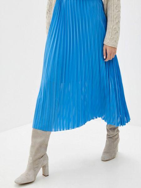 Платье плиссированное синее Selected Femme