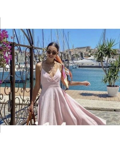 Платье макси длинное - розовое Zara