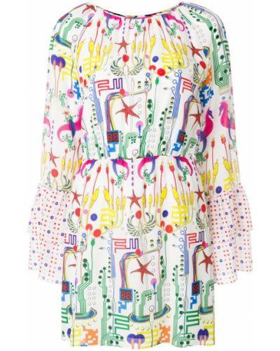 Платье мини с принтом шелковое Frankie Morello