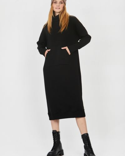 Трикотажное платье - черное Baon