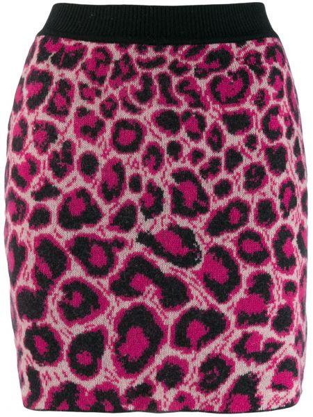 Облегающая плиссированная юбка мини с поясом Alberta Ferretti