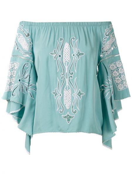 Блузка с открытыми плечами кружевная свободного кроя Martha Medeiros