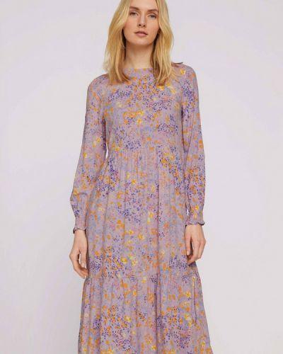 Прямое фиолетовое платье А-силуэта Tom Tailor