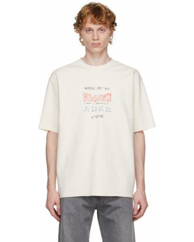 Biała t-shirt bawełniana Ader Error