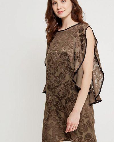 Прямое платье хаки Sisley