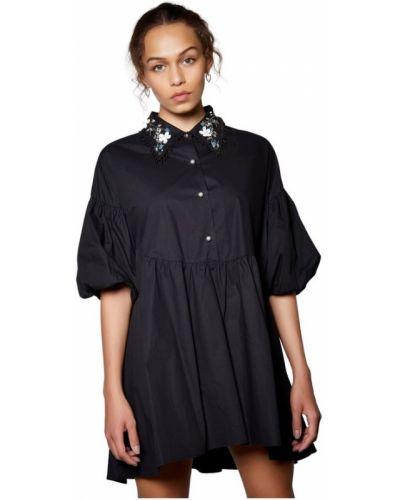 Czarna sukienka mini szkolna Sister Jane