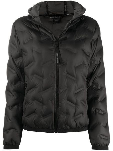Классическая черная стеганая куртка на молнии с перьями Colmar