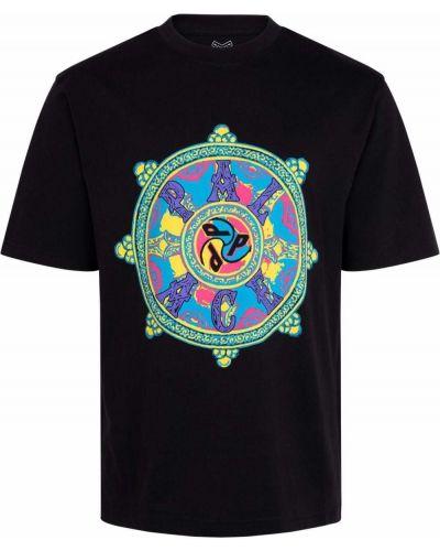 Czarna T-shirt z nadrukiem z printem Palace