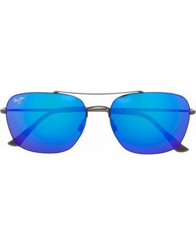 Солнцезащитные очки металлические - серые Maui Jim
