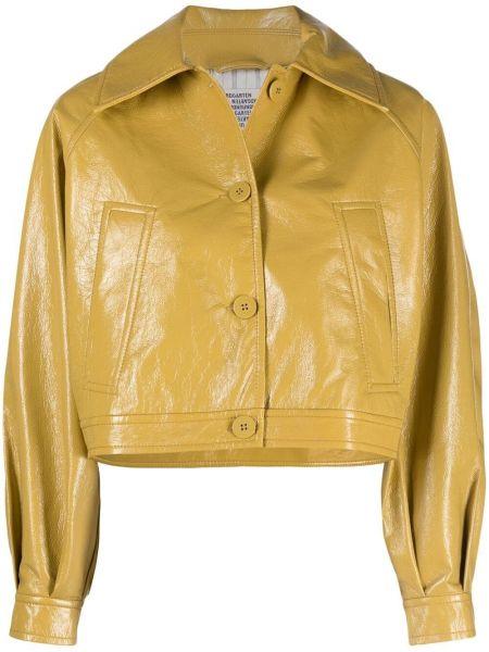 Желтая короткая куртка с воротником на пуговицах Baum Und Pferdgarten