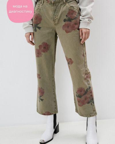 Повседневные брюки хаки One Teaspoon