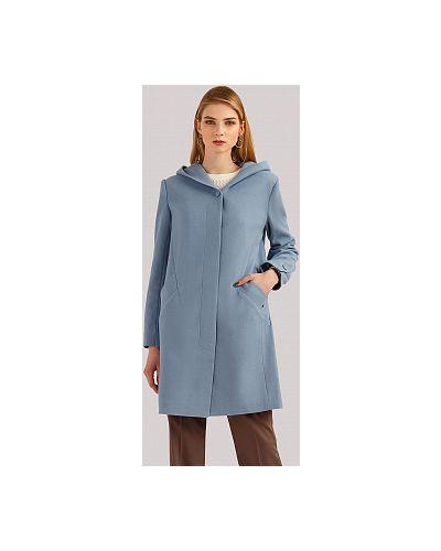 Пальто с капюшоном - голубое Finn Flare