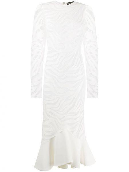 Платье миди коктейльное на молнии David Koma
