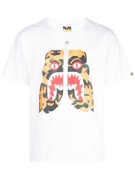Koszula krótkie z krótkim rękawem z nadrukiem Bape