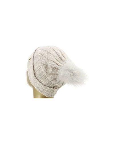 Бежевая шапка шерстяная Blugirl
