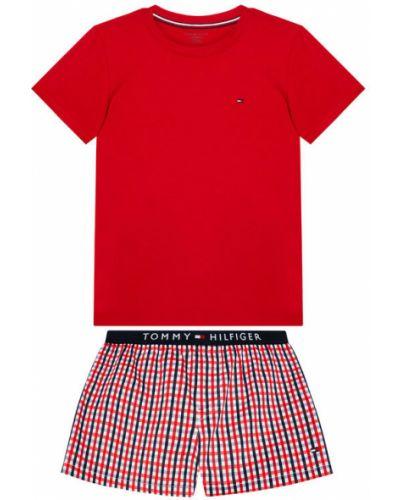 Czerwona piżama z printem Tommy Hilfiger