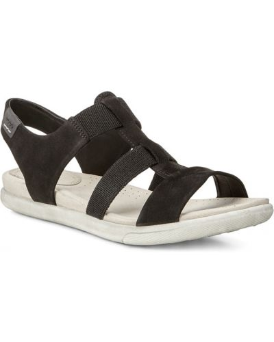 Сандалии черные на каблуке Ecco