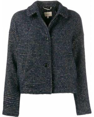 Приталенный синий удлиненный пиджак на пуговицах Bellerose