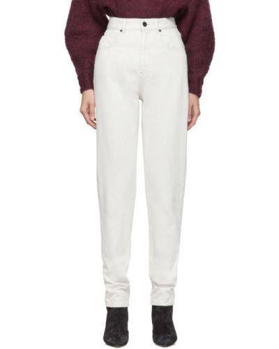 Biały jeansy z kieszeniami Isabel Marant