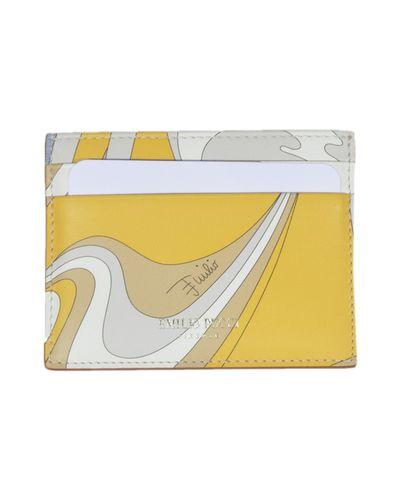 Żółty portfel Emilio Pucci