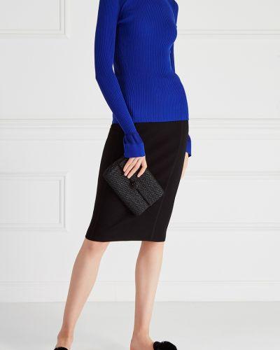 Джемпер в рубчик синий Diane Von Furstenberg