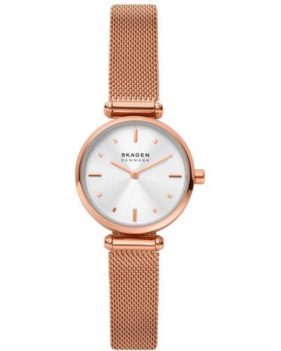 Różowy złoty zegarek Skagen