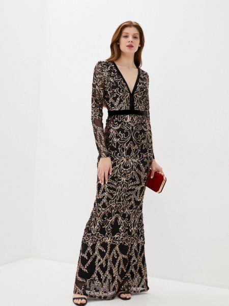Вечернее платье черное весеннее Goddiva