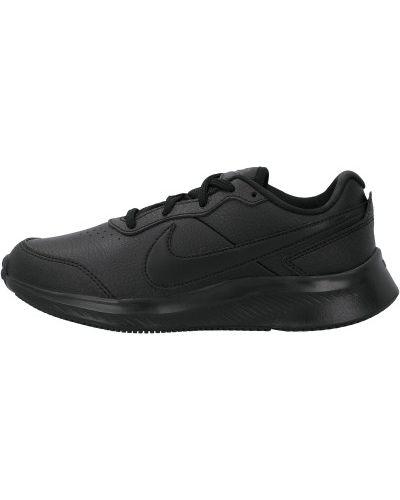 Мягкие кожаные черные кроссовки Nike